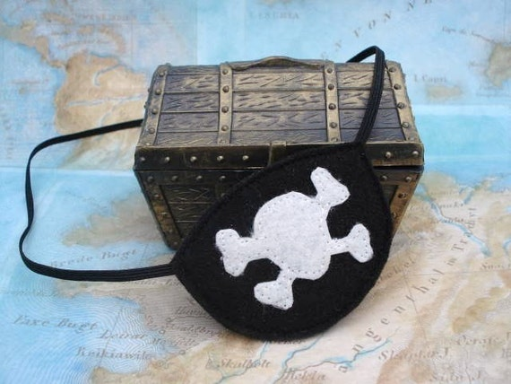 Child Pirate Eye Patch - Pirate Party - Skull and Cross Bone Eye Patch - Dress Up - Halloween