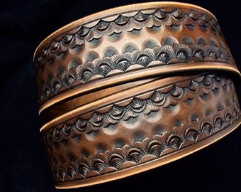 Leather Belt Brown Custom Hand Tooled made for YOU in New York City by Freddie Matara