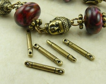 5 TierraCast 3/4 inch Bead Bar Link with holes on both ends * Antiqued Style Brass Ox Finish - I ship Internationally 3105