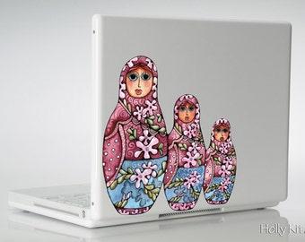 MacBook decal laptop sticker Russian Nesting Dolls Matryoshka Babushka mac