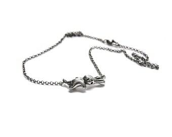 SALE dead rabbit necklace