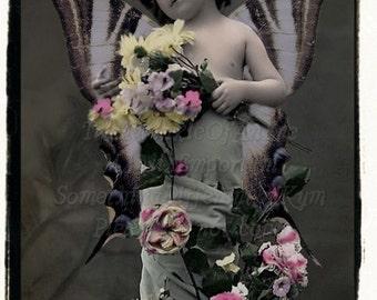 Le Fairy Altered vintage photograph, digital download