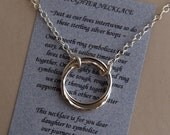 DAUGHTER JOURNEY NECKLACE Sterling Silver with Poem - Love - Devotion - Gift