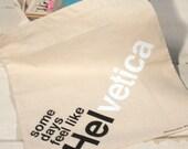silkscreen some days feel like helvetica tote typography pun font humor