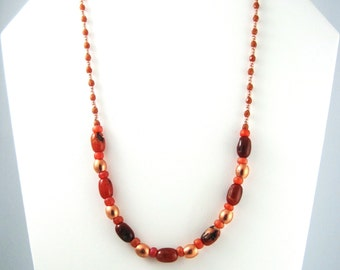 Carnelian Jewelry Etsy, Canadian Handmade Jewelry, Carnelian Necklace, Semi Precious Beads Jewelry, Semiprecious Stone Jewelry, Gemstone