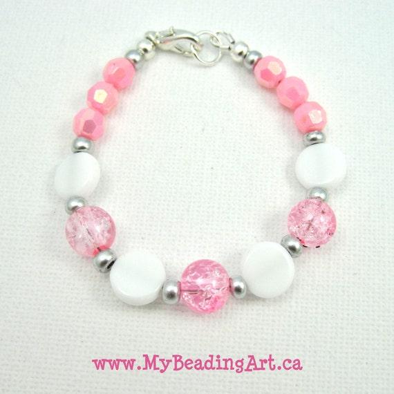 Childrens Charm Bracelet: Kids Jewelry Kids Bracelet Girls Pink Bracelets Beaded