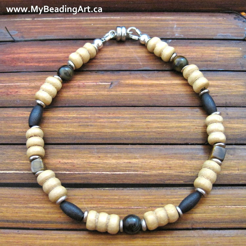 mens bracelet mens beaded bracelet mens jewelry by. Black Bedroom Furniture Sets. Home Design Ideas