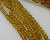 Glass Beads CLOSEOUT SALE (GB5A) 6mm Goldenrod Round 5 Strands