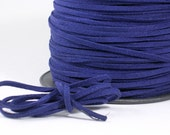 3mm Faux Suede Leather Cord Navy Blue 15 feet (C11)  for Crafts Jewelry Bracelets Necklace Stringing Shipping from USA