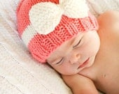 Ribbons and Bows Beanie - Knitting PATTERN - pdf format for ages newborn to adult