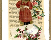Land of Flowers Calling Card Collage Card