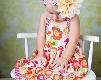 Halter Dress Pattern - Sweet Summer Halter Dress for Baby 0-24 months PDF