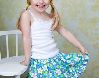 Twirl Skirt Pattern, Skort Pattern - PDF Sewing Pattern
