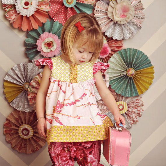 Baby Girl Pattern - Flutter Top Sewing pattern