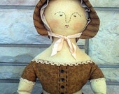 Folk Doll Pattern Colonial Primitive Mary Hill Cloth Doll Pattern PDF