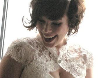 The Meagan Bridal Shrug- White or Ivory