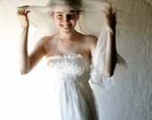 Wedding scarf, Ivory Bridal Scarf, white stole, cream silk scarf, wedding veil, chiffon bridal wrap, white silk shawl, Silk sash