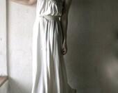 Long Wedding dress in Ivory white Jersey strapless maxi gown grecian wedding dress draped minimalist