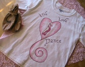 Live Love DANCE short sleeve Tshirt (youth size Xsmall)