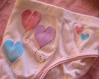 Balloon Hearts Panty (girls size  Xsmall, 4T)