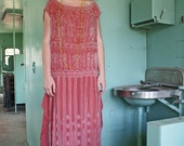Music Box Girl HEAVY Beaded 20's Gown stunning Great Gatsby