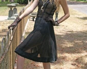 Caged 90's Dries Van Noten Dress