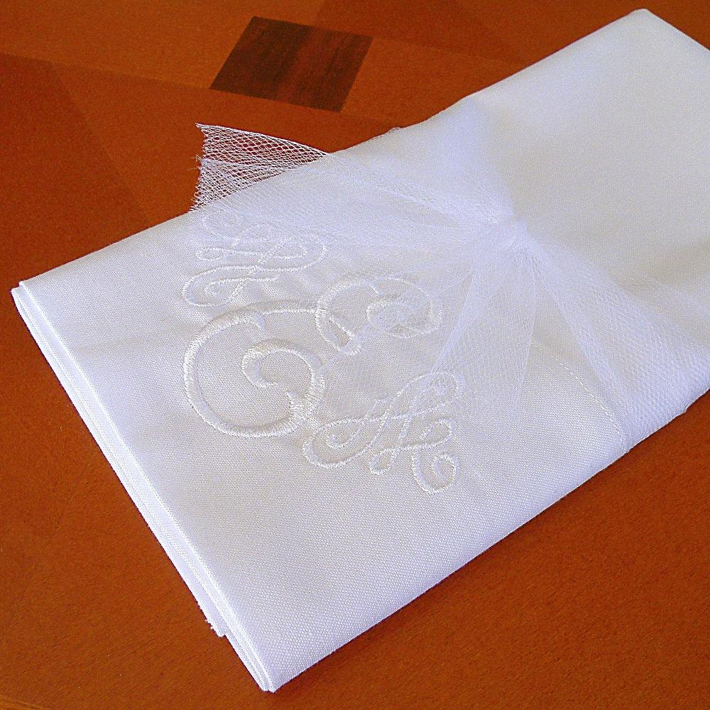 white monogram pillowcase personalized pillowcase