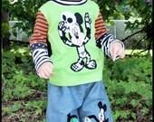 Disney Halloween Mickey Donald Goofy Pluto Chip n Dale Boys Boutique Custom