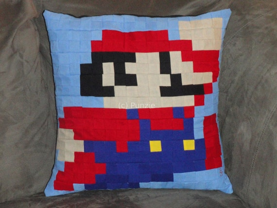 Super Mario Bros Mario pillow