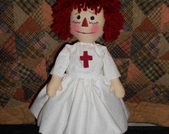 Primitive Nurses Raggedy Doll
