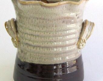 Utensil Jar - Mocha Madness Glaze