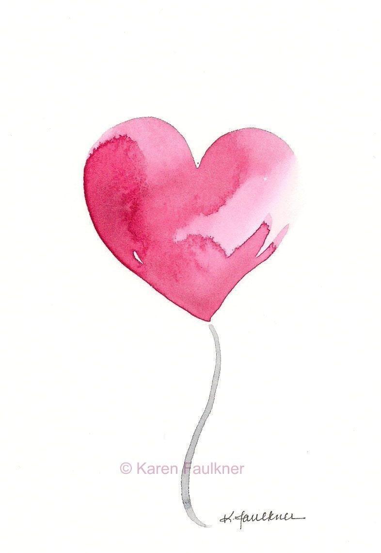 """Willkommen auf Etsy!Willkommen auf Etsy!Deine DatenschutzeinstellungenKunstdruck von rosa Herz: """"Hello Love"""""""