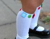 Btrflyshan Boutique Custom Winter Wonderland Button Knee Socks