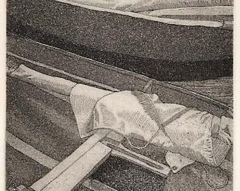 Prams - Original etching aquatint