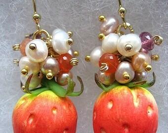 Juicy Strawberry Earrings