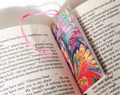 Marbled Paper Bookmark Book / Mini Notebook - Series 1, Rainbow Bookmark Notebook