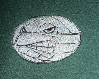 Personalized Volleyball Blanket GREEN Embroidered with Team or School or Your Name