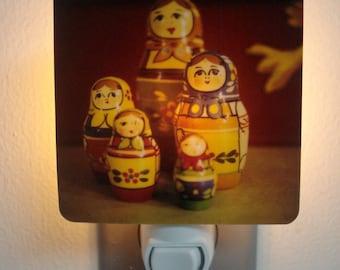 Clearance DISCONTINUED Matryoshka Nesting Dolls Night Light - Little Women Polaroid - Unique Housewarming Gift, Home Nursery Decor,