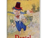 Personalized Bookplates - Vintage Mr. Pig -  Book Label, Perfect Cook Book Companion