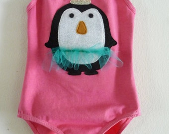 PENGUIN LEOTARD- Princess Dancing  Penguin- Size 12/18 months, 2/4 years, 4/6 or 6/8 years