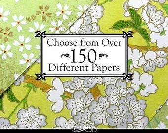 Paper Pack of Chiyogami, Katazome, Italian Decorative Papers. You Pick 5 sheets. 4x6 inches. Big Selection of Decorative Papers.