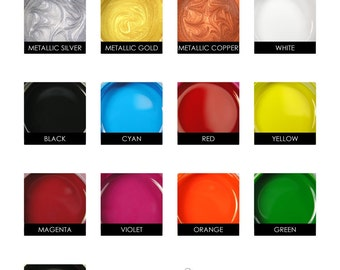Bella Paint for Glass and Metal. Opaque Glossy Paint, Food Safe. Single 2 oz. Jar. Annie Howes.