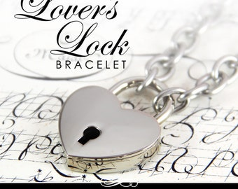 Heart Lock with 304 Stainless Chain Bracelet