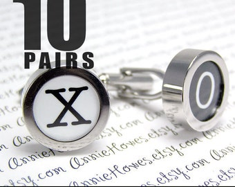 BULK LOT of Photo Cufflinks. Create Your Own Photo Cuff Links. Easy to Make. Add Your Own Image. 10 Pair.