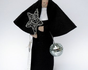 Novelty nun doll, funny disco doll, dance teacher gift, ballroom dance doll