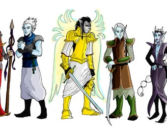 Custom DND Dungeons & Dragons WoW World of Warcraft Character Illustration