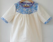 SALE: 40% discount on girls top / blouse / tunic with liberty tana lawn yoke size 5T