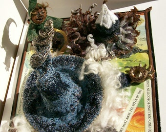 Art Object Sculpture Beads Figural Mixed Media Art Beadwork The Hobbit Award Winning 2009