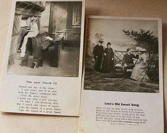"Antique Ephemera 2 Real Photo Postcards ""Life Model Series"" 1900's Black & White"