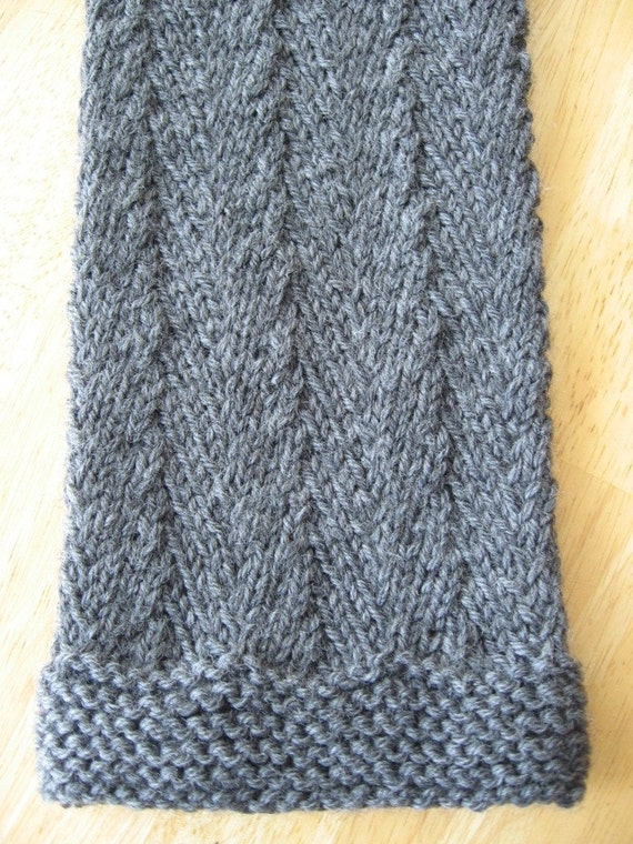 Knitting Pattern For Herringbone Scarf : Timothy Herringbone Scarf knitting pattern pdf digital